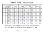 model error comparisons