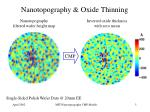 nanotopography oxide thinning