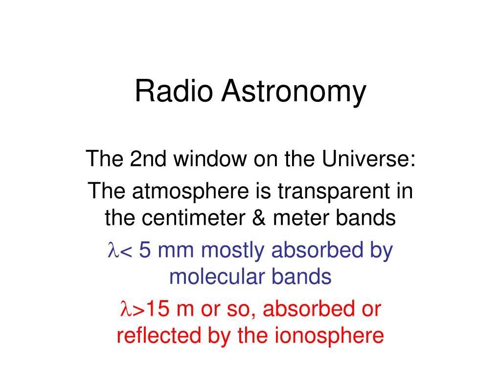 radio astronomy l.