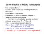some basics of radio telescopes