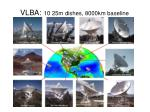 vlba 10 25m dishes 8000km baseline