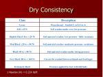 dry consistency