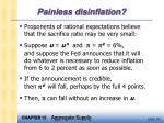 painless disinflation