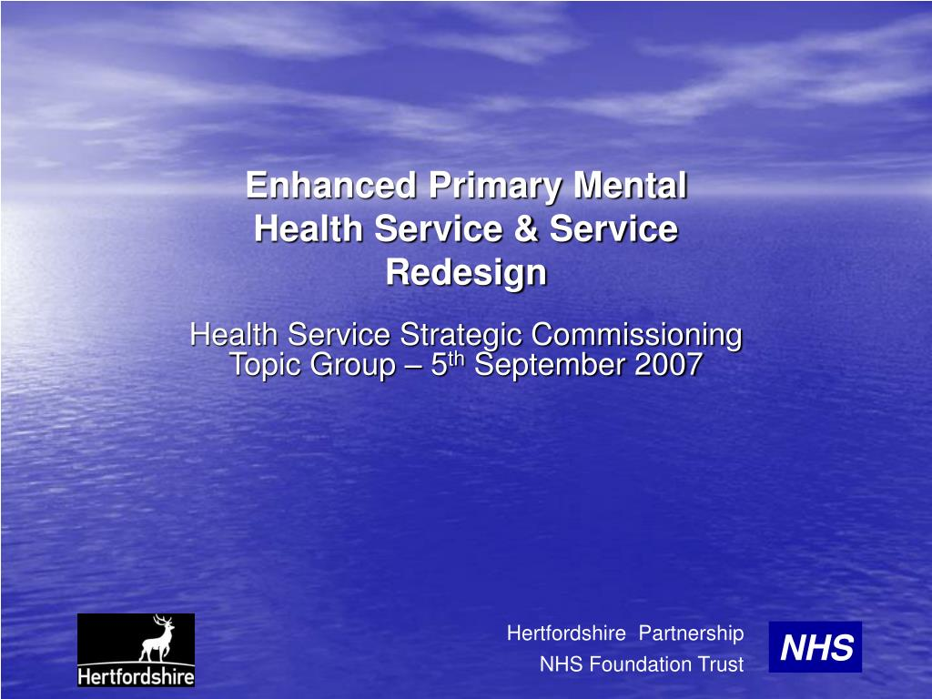 enhanced primary mental health service service redesign l.