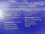 enhanced primary mental health services current position