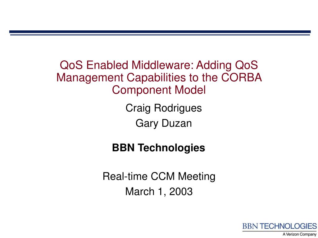 qos enabled middleware adding qos management capabilities to the corba component model l.