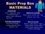basic prop box materials