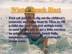 winter beach blast