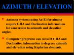 azimuth elevation