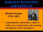 faraday rotation and effects