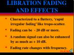 libration fading and effects