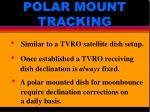 polar mount tracking