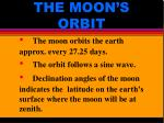 the moon s orbit