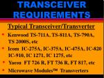 transceiver requirements