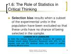 1 6 the role of statistics in critical thinking22