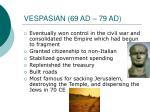 vespasian 69 ad 79 ad