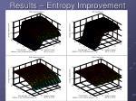 results entropy improvement