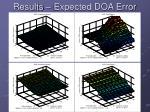 results expected doa error