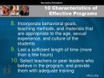 10 characteristics of effective programs64