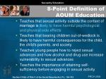 8 point definition of aoum education27