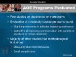 aoe programs evaluated