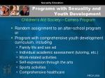 programs with sexuality and youth development