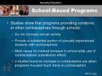 school based programs