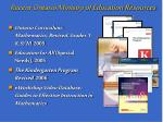 recent ontario ministry of education resources