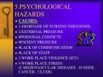 5 psychological hazards