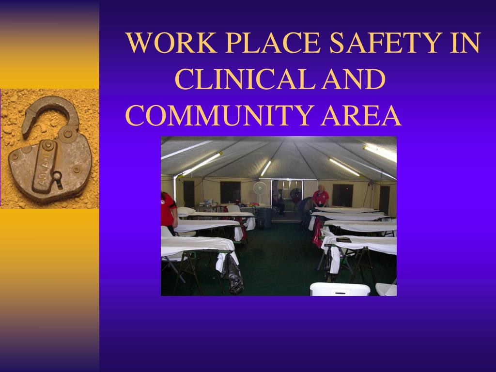 work place safety in clinical and community area l.