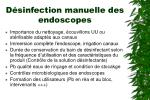 d sinfection manuelle des endoscopes