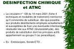 desinfection chimique et atnc