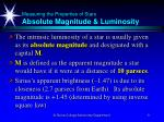 measuring the properties of stars absolute magnitude luminosity