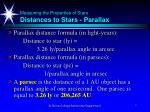 measuring the properties of stars distances to stars parallax7