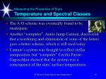measuring the properties of stars temperature and spectral classes12