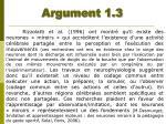 argument 1 3