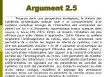 argument 2 5