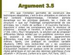 argument 3 5