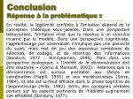 conclusion r ponse la probl matique 2