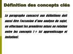 d finition des concepts cl s9