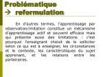 probl matique reformulation