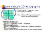 reconstruction3d tomographie