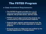 the fsted program