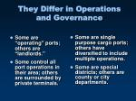 they differ in operations and governance