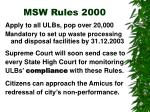 msw rules 2000