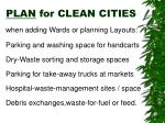 plan for clean cities