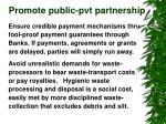 promote public pvt partnership