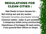 regulations for clean cities