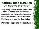 school kids cleaned up coorg district
