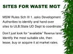 sites for waste mgt
